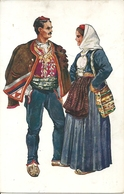 Costumi Nazionali Croati, Dalmazia, Split (Spalato) (Croazia) Vladimir Kirin Illustratore - Costumi