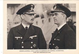 Propaganda Karte, Generaladmiral CARLS , Admiral SCHNEEWIND - Weltkrieg 1939-45