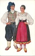 Costumi Nazionali Croati, Omisaji, Krk Island (Castelmuschio, Isola Di Veglia) (Croazia) Vladimir Kirin Illustratore - Costumi