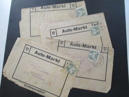 CSSR 1932 Streifbänder Auto Markt Gratisexemplar Stempel As 1 Asch (Sudetenland) Nach Schnepfau Fahrradhandlung - Tschechoslowakei/CSSR