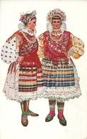 Costumi Nazionali Croati, Slavonia, Valpovo - Brodanci (Croazia) Vladimir Kirin Illustratore - Costumi