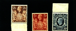 GREAT BRITAIN - 1939  GEORGE VI HIGH VALUES SUPERB  SET MINT NH - 1902-1951 (Re)