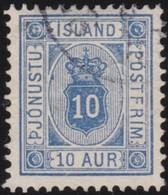 IJsland  .      Yvert   Service  6a B   . 12½    .       O     .         Cancelled   .    /   .   Gebruikt - Oficiales