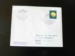 LETTRE  -  CACHET COMMEMORATIF  - ST MORITZ  -  V IEME OLYMPIADE  -  1948  - - Postmark Collection (Covers)