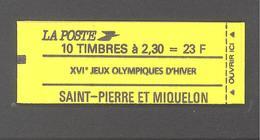 St Pierre Et Miquelon - Carnet N°518 ** (20 % De La Cote) - Libretti