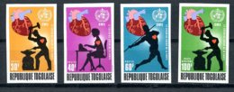 Togo, 1972, World Heart Month, WHO, United Nations, MNH Imperforated, Michel 916-919B - Togo (1960-...)
