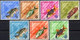 Togo, 1967, African Fish, Animals, Fauna, MNH, Michel 543-549A - Togo (1960-...)