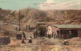 ALGERIE MINES D'AIN-ARKO CHANTIER NUMERO 3 (THEME MINE) CARTE COLORISEE - Other Cities