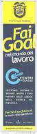 Segnalibro CENTRI PER L'IMPIEGO - Provincia Di Modena - Fai Goal Nel Mondo Del Lavoro - Segnalibri