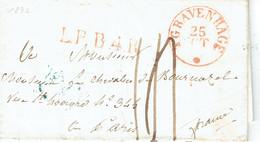 Pays Bas Lettre De GRAVENHAGE Pays Bas - ...-1852 Préphilatélie