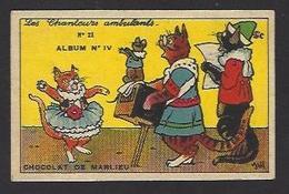 Chromo Orgue De Barbarie Organ Grinder Chat Cat Position Humaine Habillé Souris Mouse - Animali Abbigliati