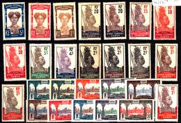 GABON - N°  49/65* - SERIE COMPLETE DE 17 VALEURS. - Unused Stamps