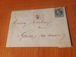 CANNES GC 720 - Lettre écrite 1870  - ( Port à Ma Charge ) - 1849-1876: Klassieke Periode