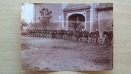 PIEMONTE TORINO FOTO FORMATO PICCOLO ALLIEVI UFFICIALI IN BICICLETTA ACCADEMIA CORSO 1908 - 1909 - Foto