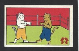 Chromo Chat Cat Position Humaine Habillé Publicité L'alsacienne Alsace Boxe - Animali Abbigliati