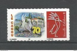 NOUVELLE CALEDONIE (New Caledonia)- Timbre Personnalisé - Club Le Cagou - 2017 - 70ème Anniversaire - Neufs