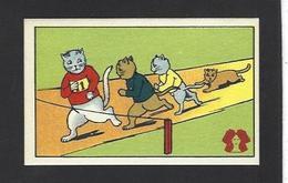 Chromo Chat Cat Position Humaine Habillé Publicité L'alsacienne Alsace - Animali Abbigliati