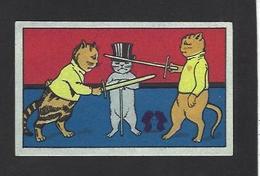 Chromo Chat Cat Position Humaine Habillé Publicité L'alsacienne Alsace Escrime - Animali Abbigliati