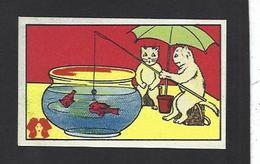 Chromo Chat Cat Position Humaine Habillé Publicité L'alsacienne Alsace Pêche à La Ligne - Animali Abbigliati