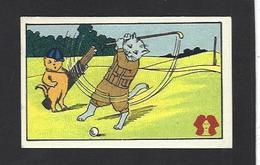 Chromo Chat Cat Position Humaine Habillé Publicité L'alsacienne Alsace Golf - Animali Abbigliati