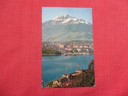 Switzerland > LU Lucerne  Lucerne Mount Pilatus   Has Stamp & Cancel    Ref    3579 - LU Lucerne
