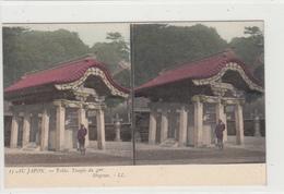 Japan  Japon  Au Japon  Tokio Temple Du 4me Shogoun     CARTE STEREO  COULEUR - Autres