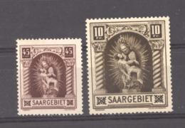 Sarre  :  Yv  101-02  * - 1920-35 Société Des Nations