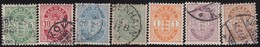 Danmark  .      Yvert   7 Stamps      .      O And *     .   Cancelled And Mint-hinged - 1864-04 (Christian IX)