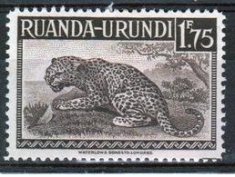 Ruanda-Urundi 1942 Single 1f 75c Stamp From The Definitive Set. - Ruanda-Urundi