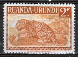 Ruanda-Urundi 1942 Single 2f Stamp From The Definitive Set. - Ruanda-Urundi
