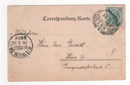 Timbre Sur Cp , Carte , Postcard De Vienne Avec 2 Beaux Cachets Du 115/09/*1902 - 1850-1918 Empire