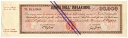 00.000 LIRE BANCA DELL'INFLAZIONE ELEZIONI POLITICHE 18/04/1948 BB+ - [ 7] Errori & Varietà