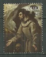 POLAND MNH ** 4552 Tableau De L'extase De Saint François D'Assise Par Le Greco Peintre - Unused Stamps