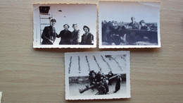 Stolpmunde Stolpmuende Stolpmünde Prussian Poland ITALY GERMANY 3 FOTO FASCISTI MILITARI ITALIANI ESERCITAZION TELEMETRO - Foto