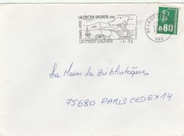 Lettre De La Croix-Valmer (Var). Avec Superbe Flamme Illustrée. - Marcophilie (Lettres)