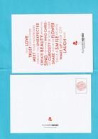 Grande Carte Postale (16,5 X 12 Cm) FLOWER Avec Texte  R/V - Cartes Parfumées