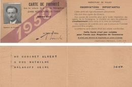 CARTE  DE  PRIORITE  1950  DANS  LES  VOITURES  DU  METROPOLITAIN  .  INFIRME  CIVIL  . - Titres De Transport