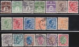 Danmark  .      Yvert   132/149     .       O     .         Cancelled   .    /   .   Gebruikt - 1913-47 (Christian X)