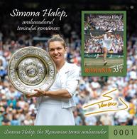Romania 2019 / Simona Halep / Imperforated S/S - Tennis