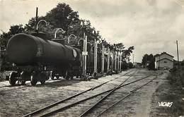 - Dpts Div -ref-AL244- Landes - Parentis - D Ici Part L Or Noir - Petrole - Train - Gare - Ligne De Chemin De Fer - - Frankreich