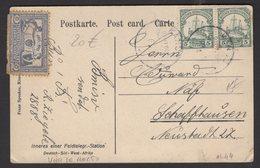 DEUTSCH-SUDWESTAFRIKA: Carte Postal Avec 5 Pf Vert Yacht Impérial X2 Oblt KANUG > SCHAFFHAUSEN - Colony: German East Africa