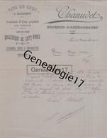 03 1041 BOURBON L ARCHAMBAULT ALLIER 1911 Vins CHANUDET Limonade Eaux Gazeuses BRASSERIE DE SEPT FONDS Bieres - France