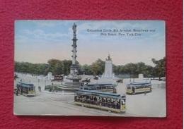 POSTAL POST CARD USA ESTADOS UNIDOS UNITED STATES NEW NUEVA YORK COLUMBIA COLUMBUS CIRCLE 8TH AVENUE BROADWAY AVENIDA - NY - New York