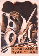 Armée Suisse, Carte Du R. Art. Auto. 5 1925 - 1937, Litho (5.9.37) 10x15 - Regimente