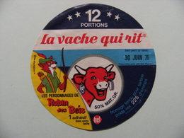 """Etiquette Fromage Fondu - Vache Qui Rit - 12 Portions Bel Pub """"Robin Des Bois Walt Disney""""   A Voir ! - Cheese"""