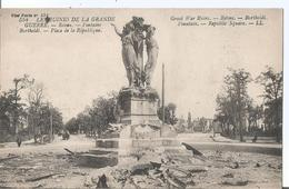 CPA  1120 - Dégats De 14/18 -REIMS Fontaine Bartholdi Place De La République - War 1914-18