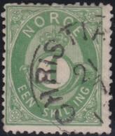 Norway    .      Yvert    16       .       O     .         Cancelled   .    /   .   Gebruikt - Noorwegen