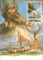 S.Tome&Principe - Maxicard 1982 - Leif Ericson,scandinavian Explorer The First European To Reach The Shores Of N.America - Explorers