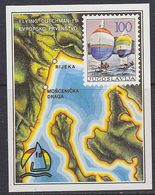 Yugoslavia 1986 European Sailing Championship Flying Dutchman M/s ** Mnh (44410) - Europese Gedachte