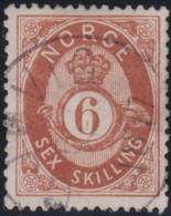 Norway    .      Yvert    20       .       O     .         Cancelled   .    /   .   Gebruikt - Noorwegen
